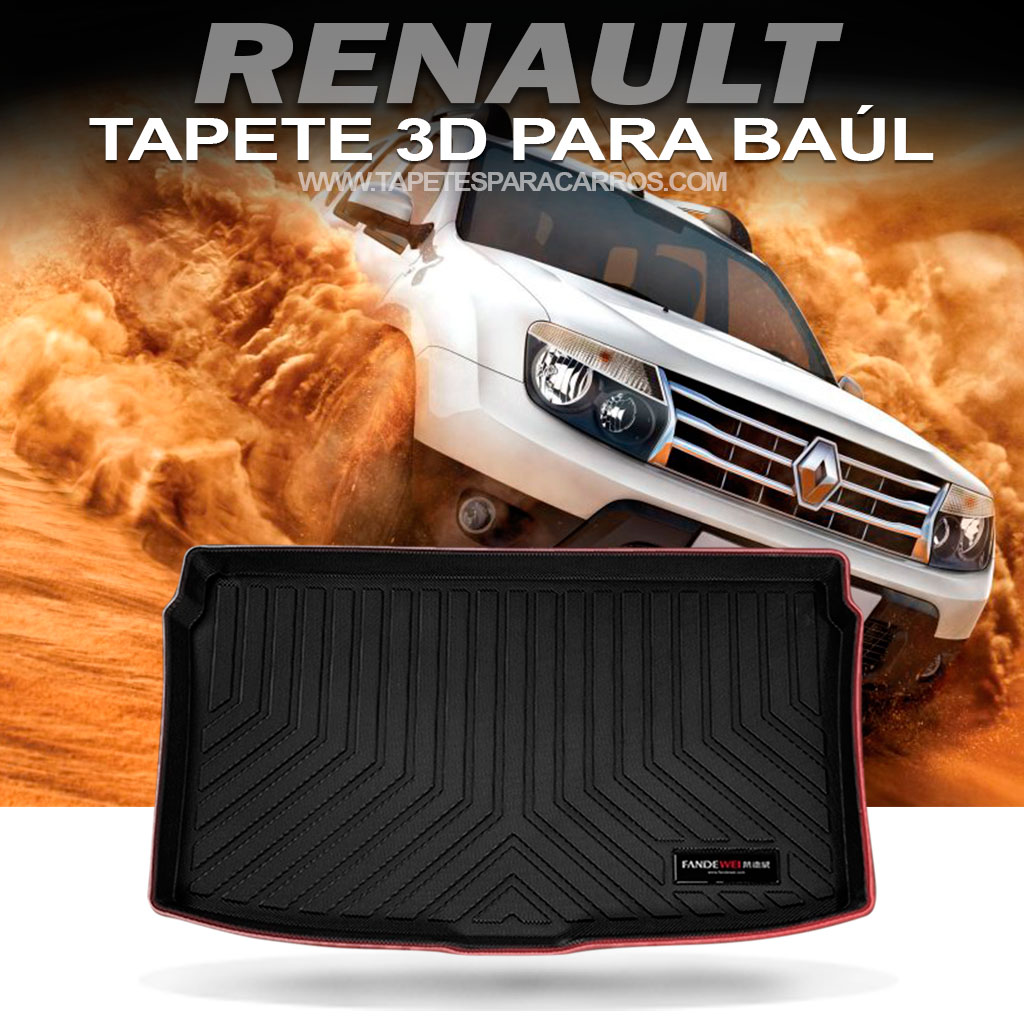 Tapete termoformados en bandeja para baul de carros marca renault